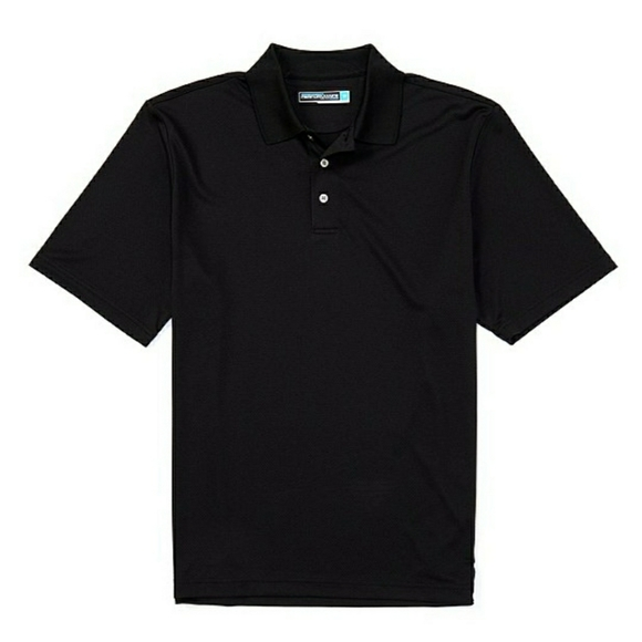 Roundtree and Yorke Black Performance Polo